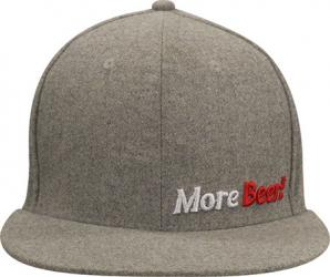 Small/Medium Grey Flat Bill MoreBeer! Hat