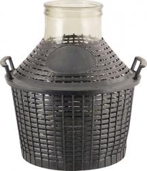 Glass Demijohn - 2.6 G (10 L) - Wide Mouth With Plastic Basket