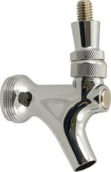 Draft Beer Faucet - Chrome With Brass Lever