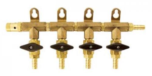 Gas Manifold - 4 Way