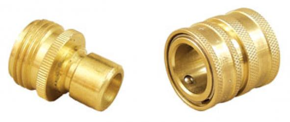Brass Quick Disconnect Set