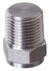 Stainless plug - 1/2 in. MPT Plug - Solid