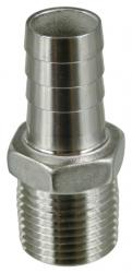 Stainless - 1/2 in. MPT x 5/8 in. Barb
