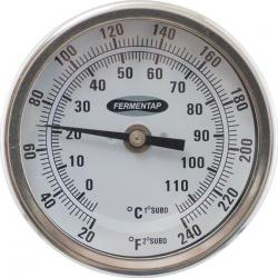 Fermentap Bi-Metal Dial Thermometer (3 in Face x 2.5 in Probe)