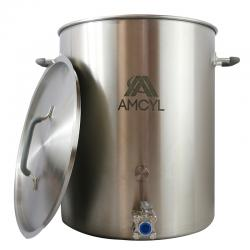 AMCYL 15 Gallon Brew Kettle w/ 3-Piece Ball Valve