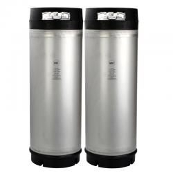 New 5 Gallon AMCYL Ball Lock Keg w/ Rubber Handles - Two Pack