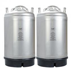New 3 Gallon AMCYL Ball Lock Keg - Two Pack