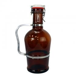 2 Liter Growler w/ Metal Handle and Swing Top Lid