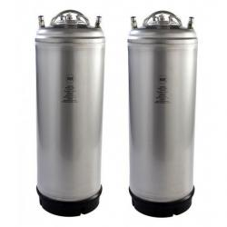 New 5 Gallon AMCYL Ball Lock Keg w/ Single Metal Handle - Two Pack