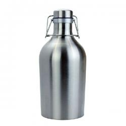 64oz Stainless Steel Growler w/ Swing Top Lid
