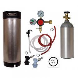 Basic Homebrew Keg Kit - Used Ball Lock Keg - Taprite Regulator