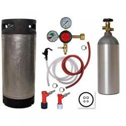 Basic Homebrew Keg Kit - Used Pin Lock Keg - Taprite Regulator
