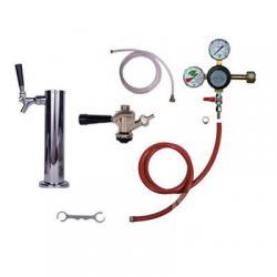 Draft Beer Tower Commercial Keg Kit - 1 Faucets - Taprite Regulator