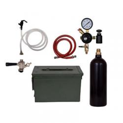 Party Keg Kit In Ammo Can - 1 Faucet - 20oz CO2 Cylinder