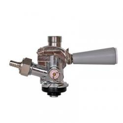 "American ""D"" Keg Tap (Coupler - Sanke) with SS Probe - Grey Lever"