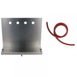 Draft Beer Drip Tray for 4 Draft Beer Faucets - with drain