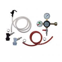 Basic Draft Beer Homebrew Keg Kit - BALL LOCK - Taprite Regulator