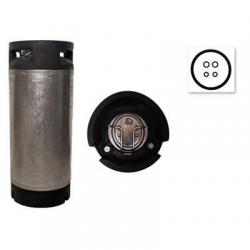 Used Converted 5 Gallon Ball Lock Corny Keg with New Lid
