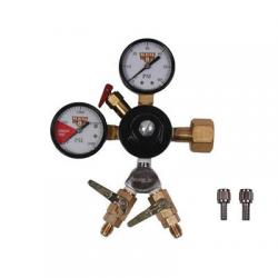 CO2 Beer Regulator - WYE Chudnow Regulator - Double Gauge