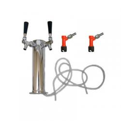 Draft Beer Tower - 2 Faucets - Pin Lock Keg