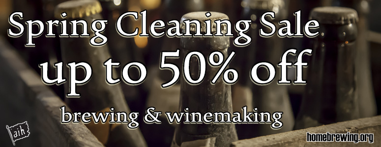 Spring Cleaning Homebrew Sale